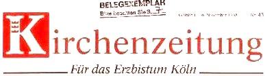 Kirchenzeitung für das Erzbistum Köln